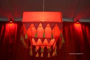 Dyed Moroccan lampshade