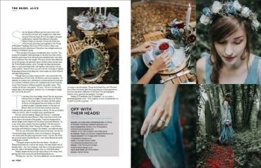 Alice in Wonderland inspired Bridal Shoot