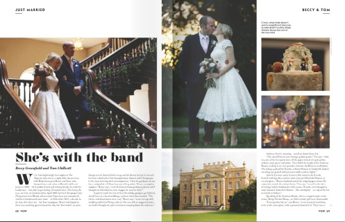 Beccy and Tom Vow- Styling by Elizabeth Weddings