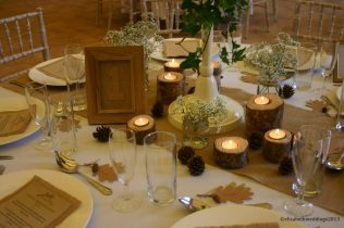 Rustic and Autumnal table