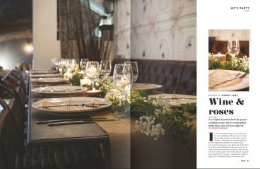 Racks styling Vow magazine- Styling by Elizabeth Weddings