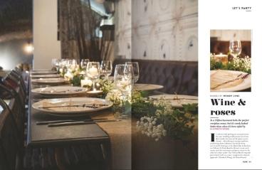 Racks styling Vow magazine- Styling by Elizabeth Weddings