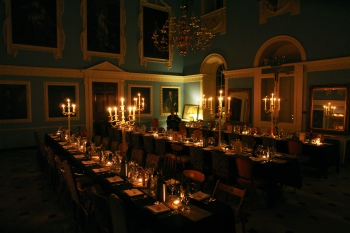 Ivory candelabra centrepieces, Photograph by Morag Macdonald http://www.documentaryimage.com/