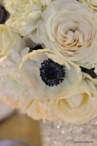 Anemones, rose, and carnations
