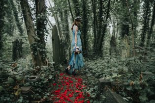 Aliceshoot red petals- styling by Elizabeth Weddings