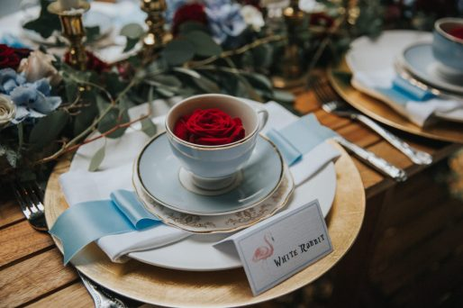Aliceshoot teacup setting- styling by Elizabeth Weddings