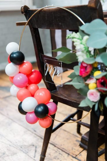 Balloon wreath- Styling by Elizabeth Weddings