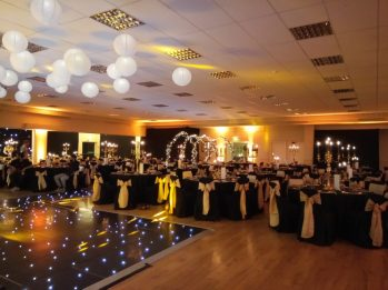 Black and gold styling- Styling by Elizabeth Weddings