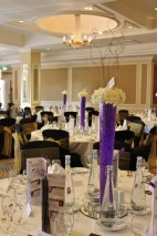 Centrepieces at the Bristol Marriott Royal Hotel