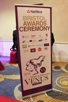 Venus Awards Night Banner at the Bristol Marriott Royal Hotel