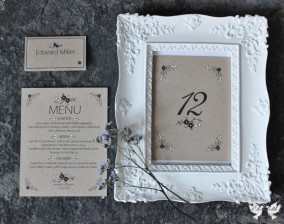 Rustic recycled handmade stationery- Elizabeth Weddings