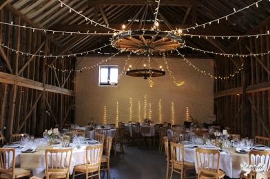 Over Barn styling, wall fairy lights- Styling by Elizabeth Weddings