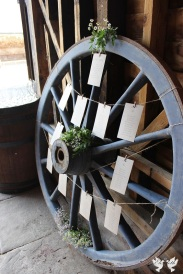 Cart wheel table plan- Design by Elizabeth Weddings