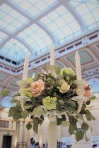 Bristol Harbour Hotel, Ivory candelabra centrepiece- Styling by Elizabeth Weddings