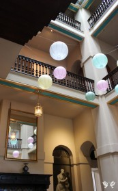 Paper lanterns at Kings Weston House- Styling by Elizabeth Weddings