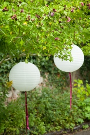Paper lanterns at No 4 Clifton Village