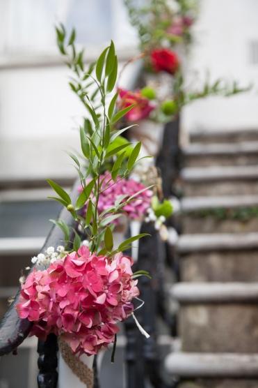 Flowers in the garden at No 4 Clifton Village- Elizabeth Weddings