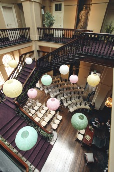 Paper lanterns by Elizabeth Weddings
