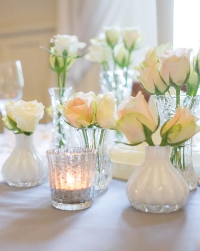 Collection of bud vases- Elizabeth Weddings