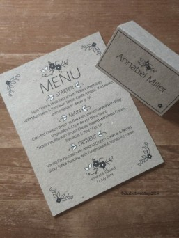 Rustic recycled stationery