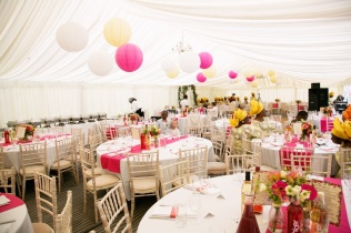Marquee styling, styling by Elizabeth Weddings