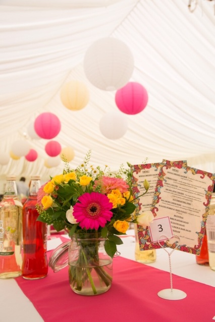 Styling in Cerise, Coral and Yellow, Styling by Elizabeth Weddings