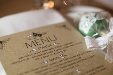 Rustic menu card