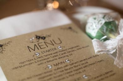 Rustic menu card