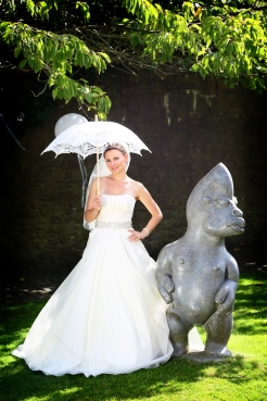 Bride with a Parasol- styling by Elizabeth Weddings