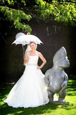 Bride with a Parasol- styling by Elizabeth Weddings