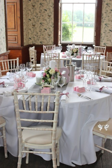 Dusky pink and grey- Elizabeth Weddings