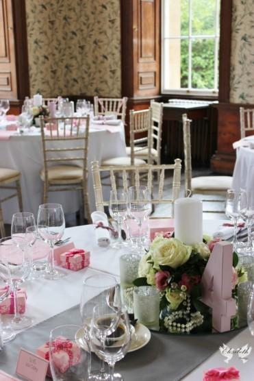 Dusky pink and grey styling- Elizabeth Weddings