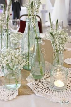 Vintage/Rustic display- Elizabeth Weddings