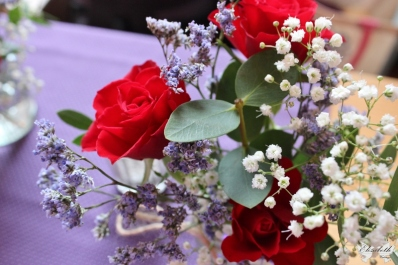 Red, Purple, White theme at No4- Elizabeth Weddings