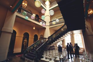 Grand Staircase room- Styling by Elizabeth Weddings