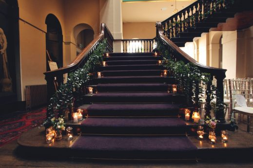Grand Staircase- Styling by Elizabeth Weddings
