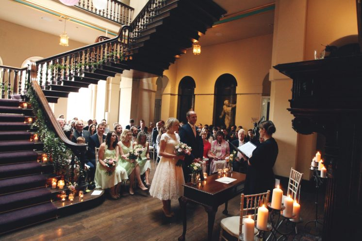Tom and Beccy Grand Staircase room- Styling by Elizabeth Weddings