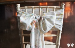 close up watercolour vintage sashes - The Vintage Sash Company