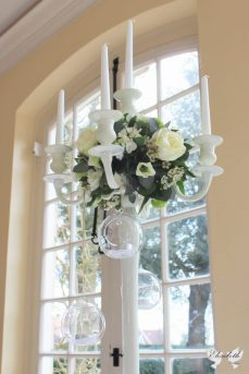 Candelabra centrepiece at Goldney Hall- Styling by Elizabeth Weddings