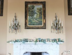 Orchardleigh House mantelpiece- Styling by Elizabeth Weddings