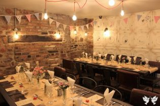 Racks, Bunting and Table Decor