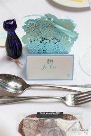 Handmade place names, double happiness - Styling by Elizabeth Weddings