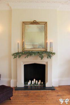 Mantelpiece love at St Tewdrics - Elizabeth Weddings