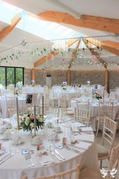 Pink, greys and white at St Tewdrics House Wedding - Elizabeth Weddings