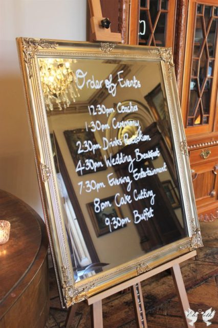 Gold ornate Mirror- Elizabeth Weddings