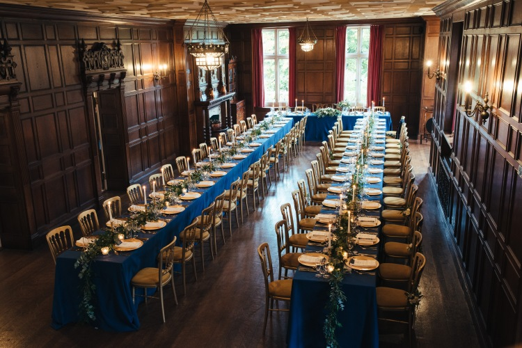 Navy blue and Gold wedding, styling, decor and design by Elizabeth Weddings