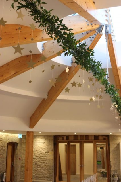 Foliage and stars at St Tewdrics House, by Elizabeth Weddings