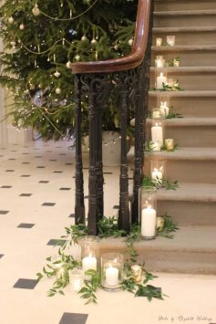 Candles and foliage, styling by Elizabeth Weddings