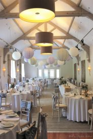 Stancliffe Hall reception, styling by Elizabeth Weddings