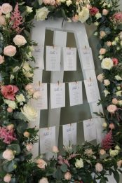 Flower table plan, table plan cards by Elizabeth Weddings